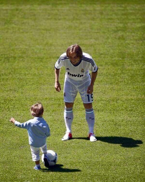 Luca Modric and son