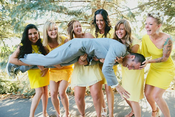 RaeTay Photography>>funny bridesmaids picture,gray and yellow wedding, creative wedding photography