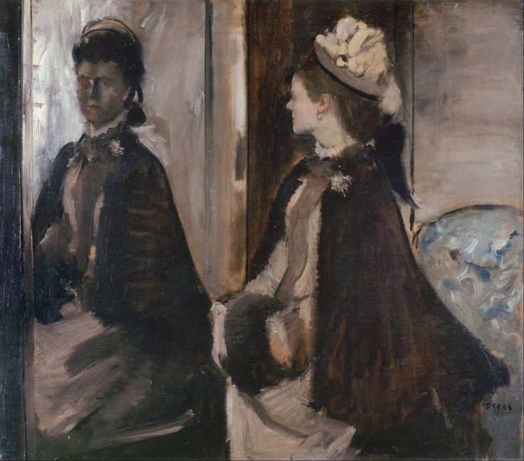 Edgar Degas (1834-1917), Mrs Jeantaud in the Mirror, 1875, Paris, Musée d'Orsay, oil on cavans, cm 70x84