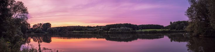 Sunset at the Obersee (Bielefeld Germany) [OC] [12999x2921] http://ift.tt/2tgkVH0