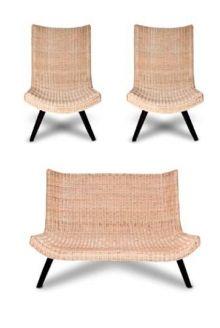 Set Majapahit Ratan (1 sofa, 2 chairs)