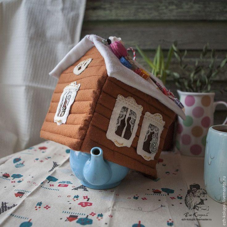 Шьем «Пряничный домик» — фетровую грелку на чайник - Ярмарка Мастеров - ручная работа, handmade