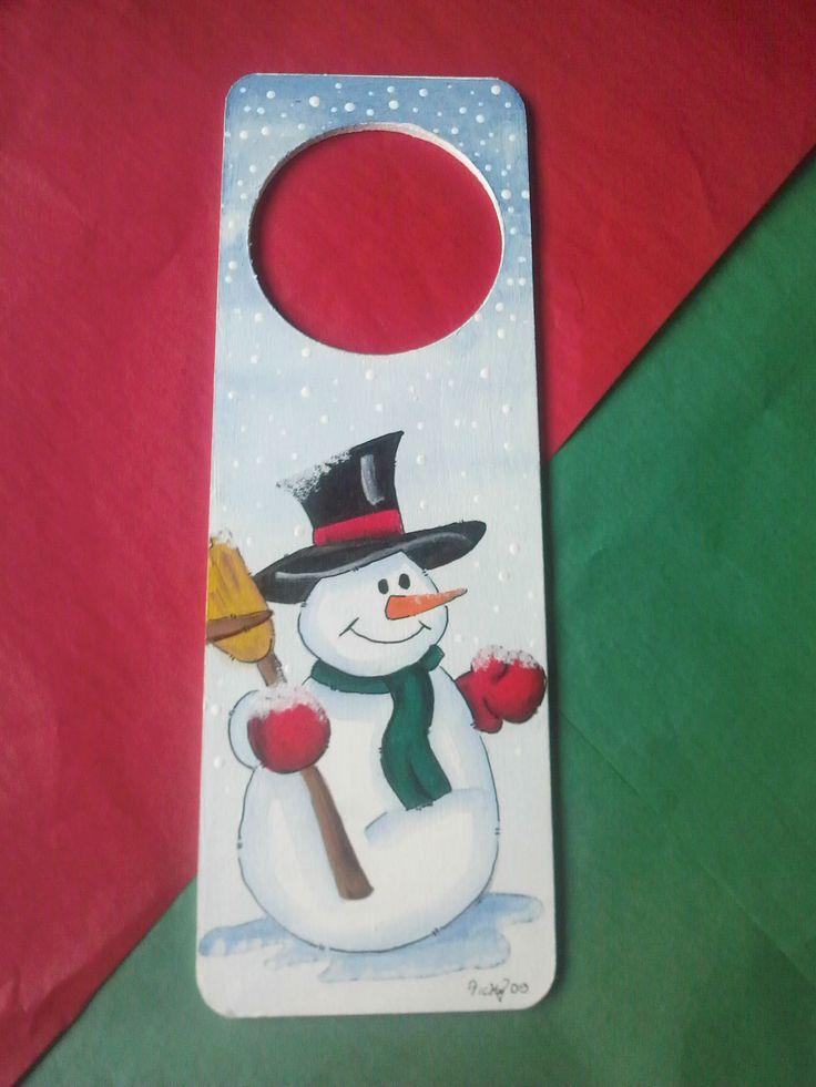 Picaporte Muñeco de nieve Merry Christmas