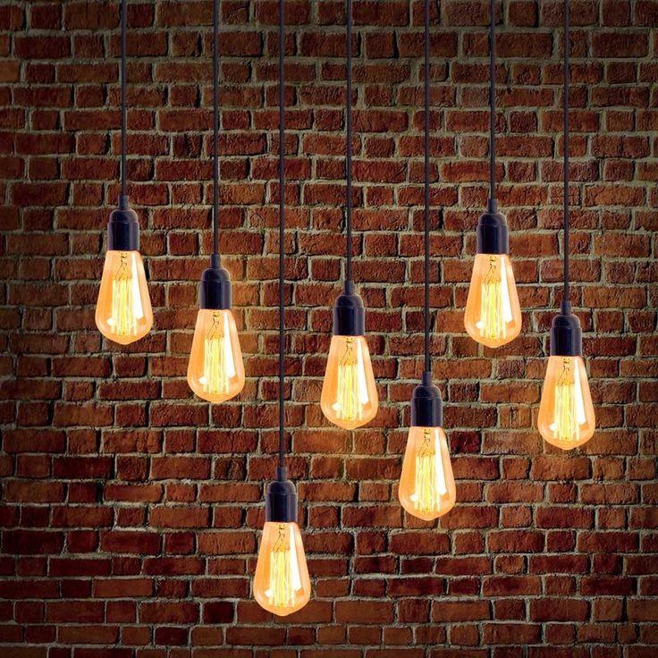 Great Homestia E27 Edison Bulb Plug In Lantern Hanging Cord Light Socket Filament  Bulb