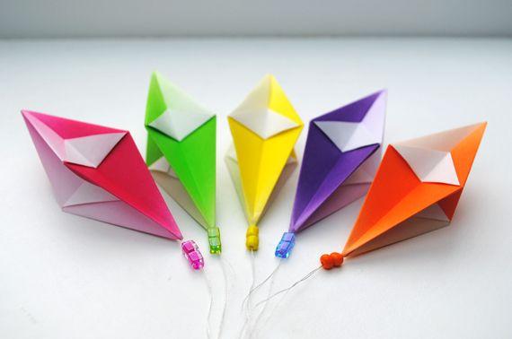 tutorial origami kites