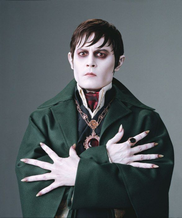 Johnny Depp as vampire Barnabas Collins in the forthcoming film 'Dark Shadows'.
