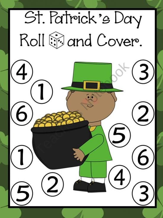 St. Patricks Day/ Dia De San Patricio Roll and Cover Games product from Bilingual-Resources on TeachersNotebook.com @Carrie Mcknelly Callan