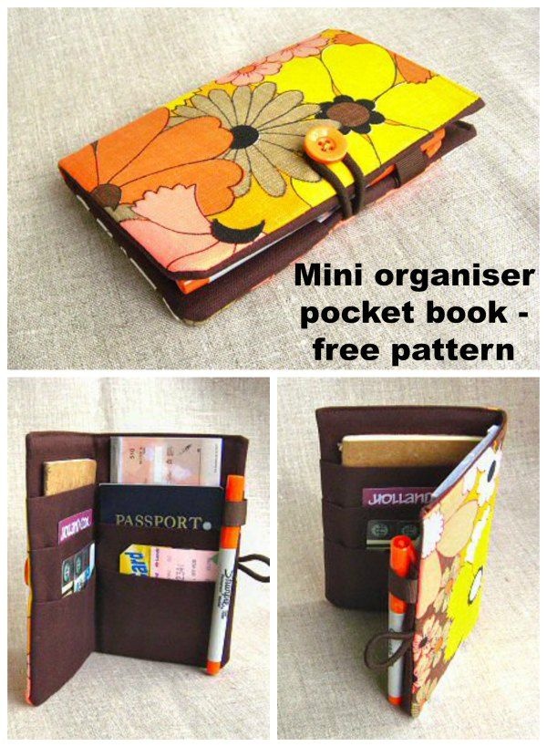 Mini Organizer Pocket Book – free pattern and tutorial