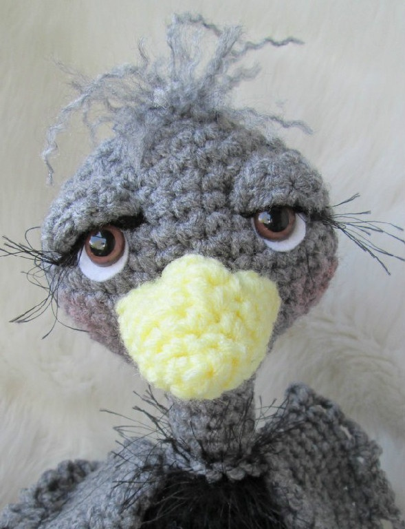 Ostrich Crochet Pattern - Use to Make Fawkes from Harry Potter (pay $5.28)