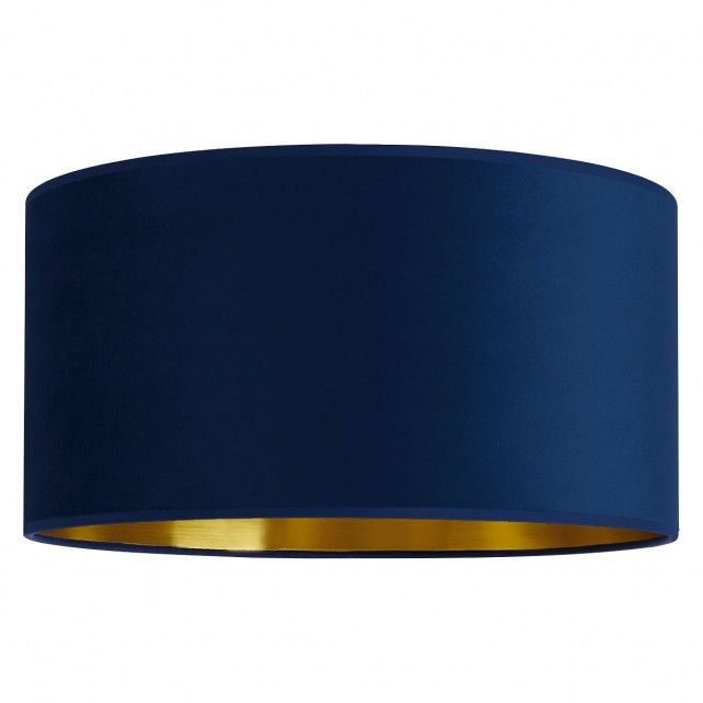 The Tambor Medium Navy Velvet Gold Lined Lampshade Combines A Soft Velvet Exterior With A Metallic Interior Giving It S Teal Lamp Ceiling Shades Fabric Shades