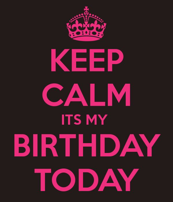 'KEEP CALM ITS MY  BIRTHDAY TODAY' Poster