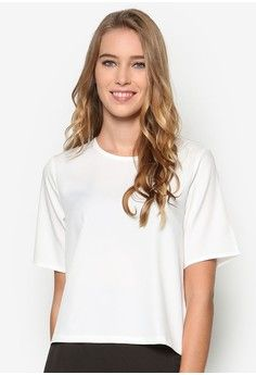 Essential Short Sleeve Top from ZALORA in white_1