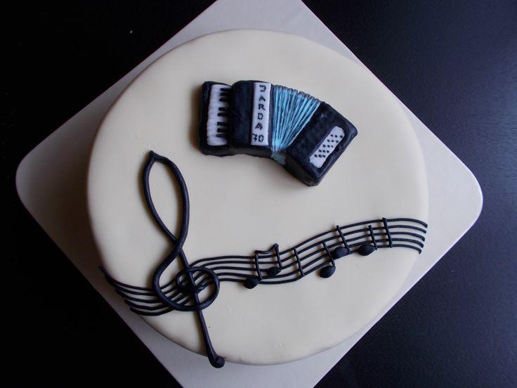 Music Cake - dort pro harmonikáře