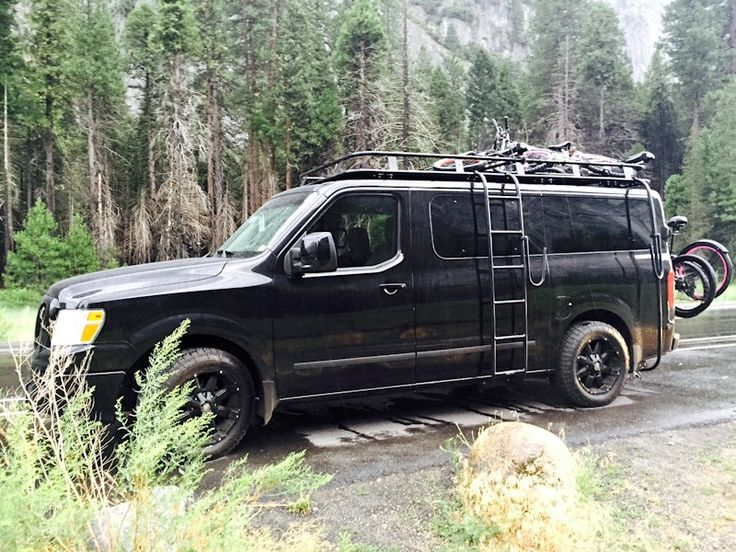 Nissan Nv Roof Rack And Side Ladder Nissan Vans Winch