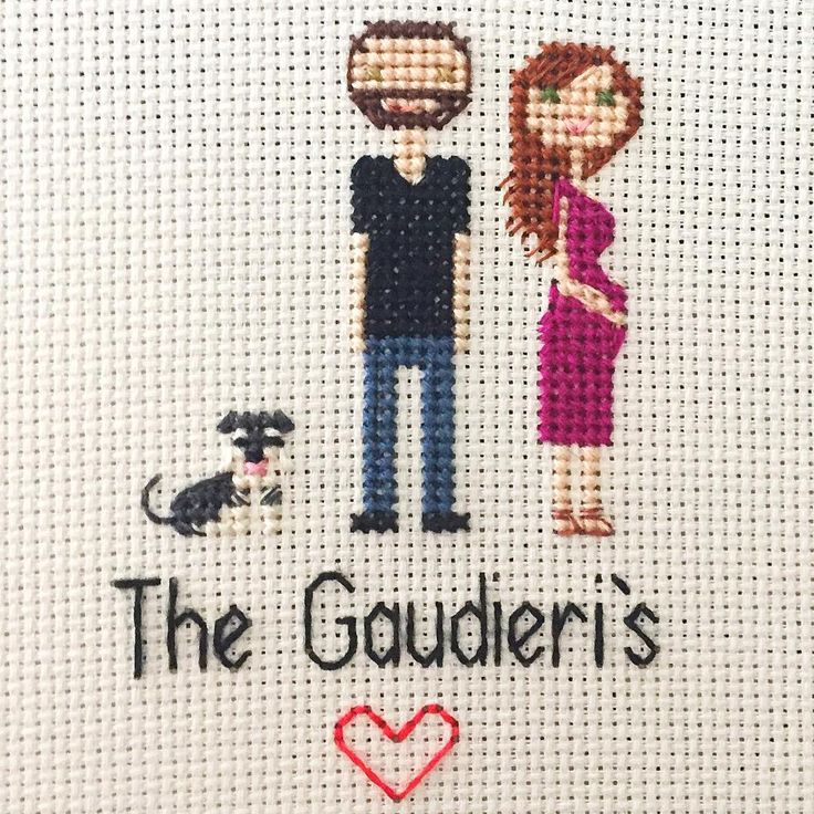 Ugh, is there anything more gorgeous than a baby bump? These guys used this cross stitch to announce to their families and friends that they are expecting- what a fab idea!!