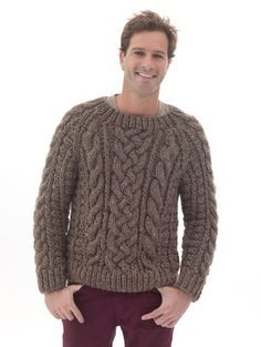 Raglan Cabled Pullover