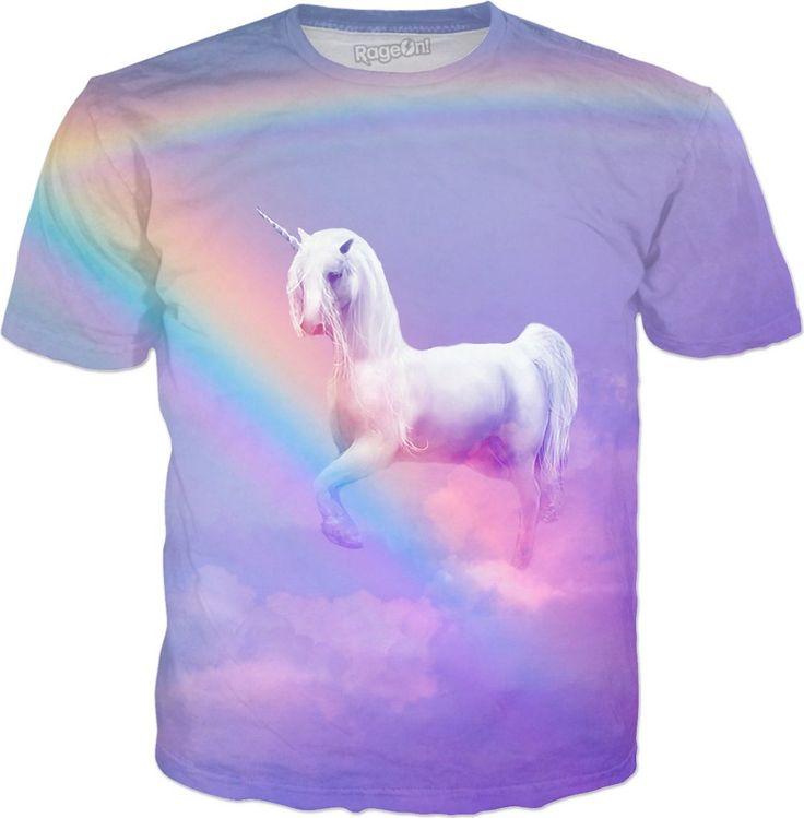 Unicorn and Rainbow All Over T-Shirt #erikakaisersot #rageon #tshirt