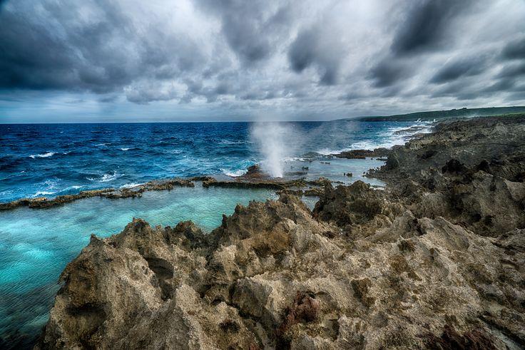 티니안  Tinian island Blow Hole!! @노랑풍선