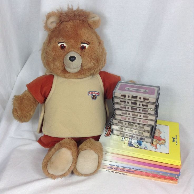Teddy Ruxpin Bear Doll 8 Cassette Tapes Books Vtg 1986