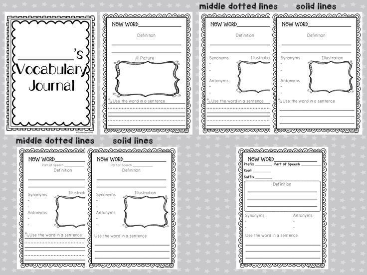 These graphic organizers are designed to help your students build their vocabulary. Students will write the definition, draw a picture, write a sentence, write synonyms and antonyms for the word, identify parts of speech, and identify the prefixes/root wo
