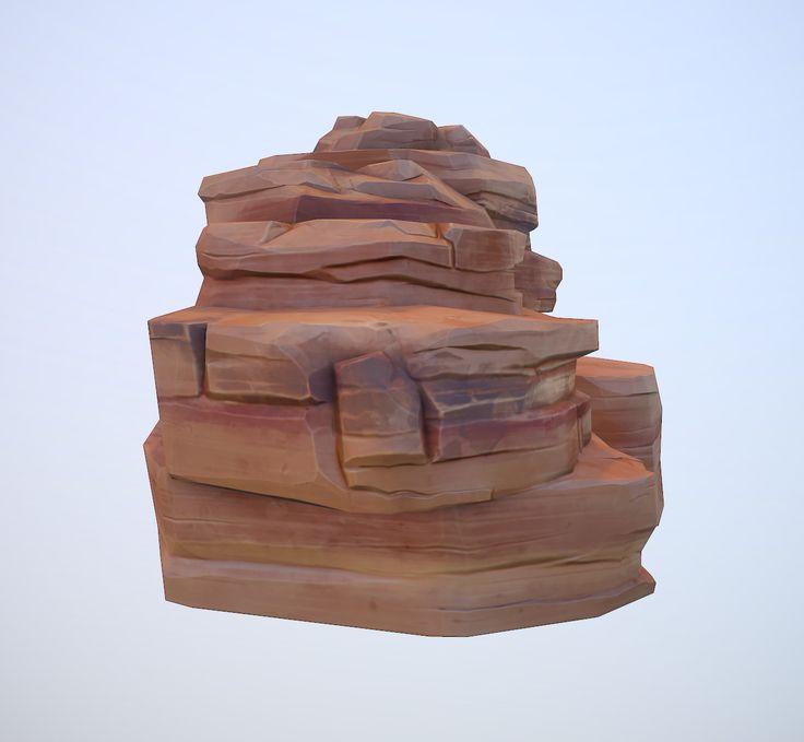 ArtStation - Cartoon Desert Rock, Alexey B.