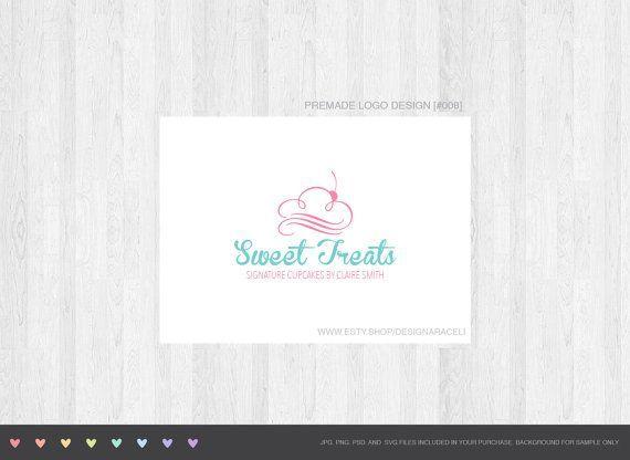تصميم شعار كب كيك لإغراءات حلوة من قبل Thelogoboutiquecom Cupcake Logo Design Cupcake Logo Logo Design