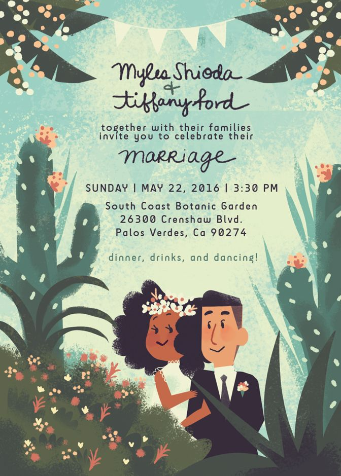 Tiffany Ford // I married my favorite dude! Here's a peek at our wedding invitations– I put a lot of love into making these!