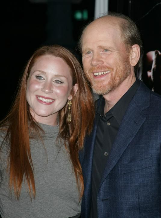 Ron Howard and daughter Paige.