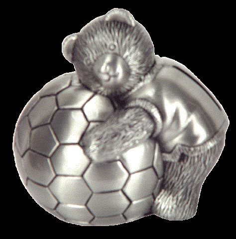 Angel Giftwares Money Bank Bear With Soccer Ball – Sweet Thing Baby & Childrens Wear #Kids #Gift #Stuff sweetthing.com.au