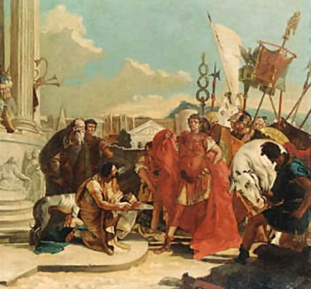 augustus and pompey After the pact of brundisium, sextus pompey or magnus pius as he called himself, son of gnaeus pomepius magnus, maintained a stranglehold in sicily and on the roman grain supply.