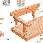 Building plan to build a garden swing with shelter of scaffolding planks.