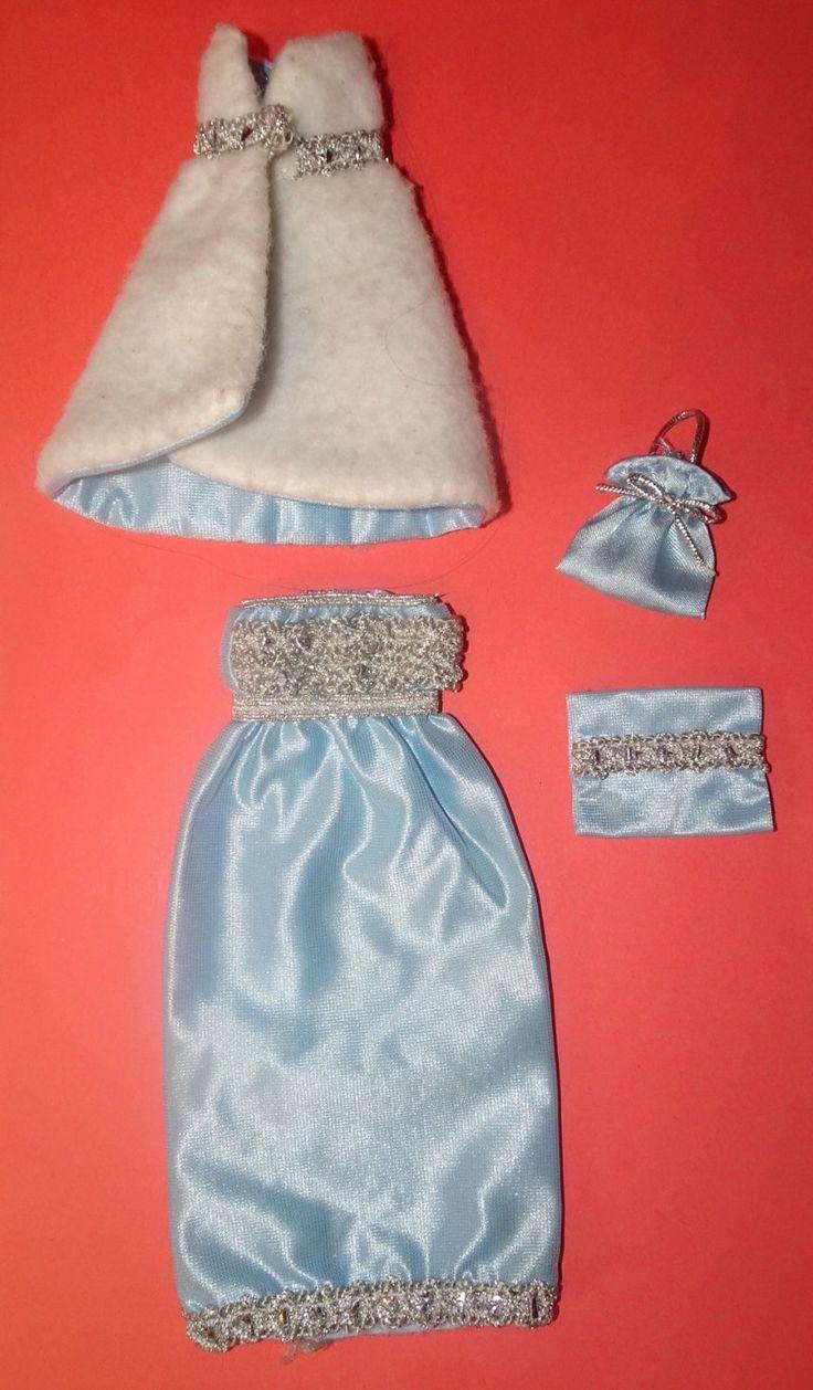 Vintage Doll Clothes Faerie Glen Clothes Blue Satin Dress Cape to fit Sindy | eBay