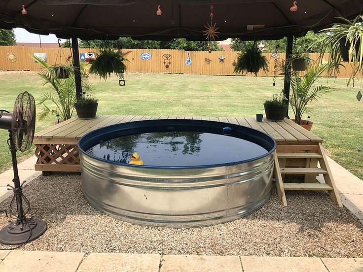 Stunning 87 Galvanized Stock Tank Pool Inspiration https://architecturemagz.com/87-galvanized-stock-tank-pool-inspiration/