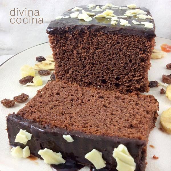 Bizcocho de chocolate sin huevo < Divina Cocina