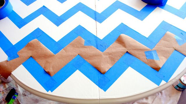Another method to make the chevron pattern