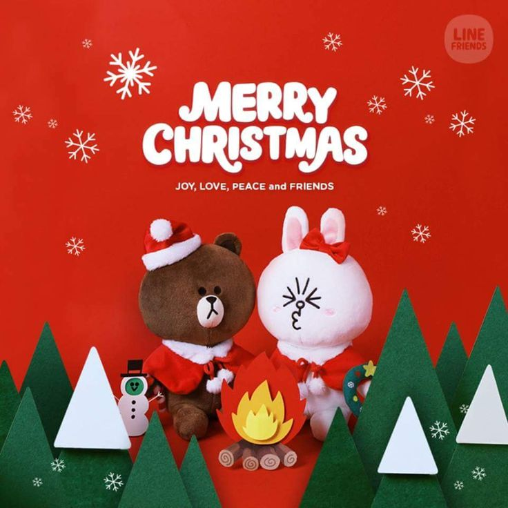 Cony and Brown are so cute! #聖誕 #聖誕禮物 #日本 #line #linefriends #cony #brown #xmas #日韓小店