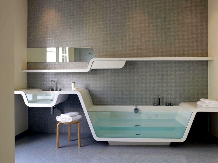 Modern bathroom by means of organic design