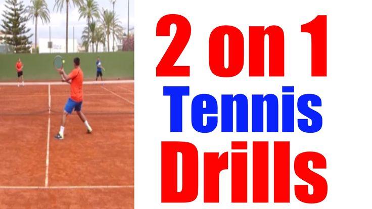 2 on 1 Pro Tennis Drills | Top Tennis Training