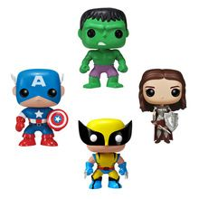2016 Genuine funko pop Marvel super hero the Hulk wolverine lady sif captain america model Action Figurine doll car Decoration