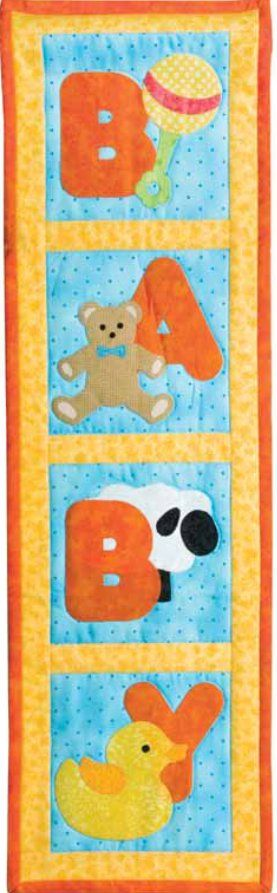 Looking for a way to make a baby quilt design that can decorate your little one's nursery? Look no further than the adorable applique quilting designs found on this quilted wall hanging from @AccuQuilt .