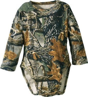 Yes you can get camo baby clothes. For reals.