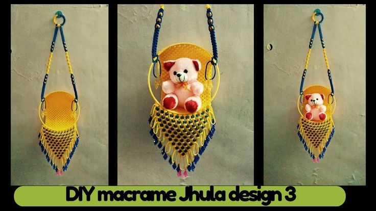 Hi friends Today i am sharing with you simple macrame tutorial of macrame jhula design 3. This macrame design simple and easy to make. Single Macrame cord = ...