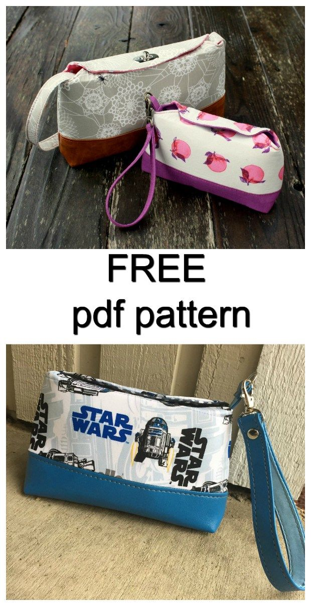 Marianne clutch & wristlet – FREE pattern