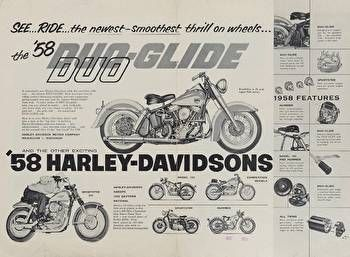 Harley-Davidson Museum Shop - Duo-Glide : Posters and Framed Art Prints Available