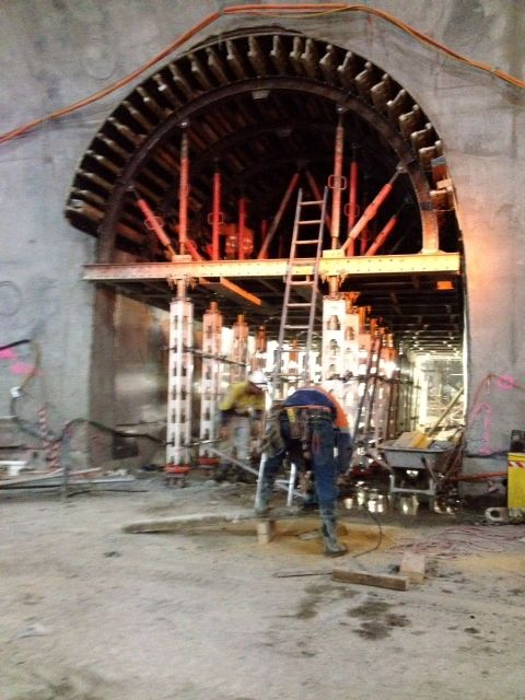 Cross Passage formwork in place, Kenny Constructions on Airport Link Project.