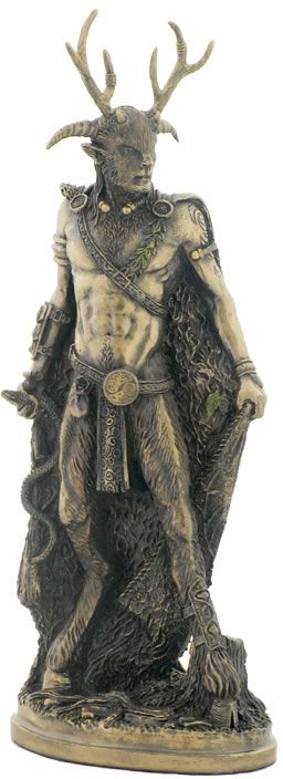 Celtic God Cernunnos Fantasy Art Sculpture Statue Figurine available at AllSculptures.com