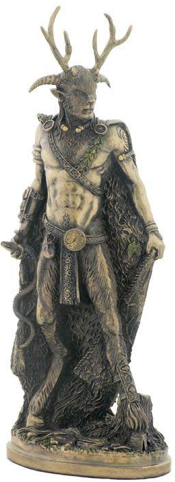 Celtic God Cernunnos Fantasy Art Sculpture Statue Figurine available at AllSculptures.com