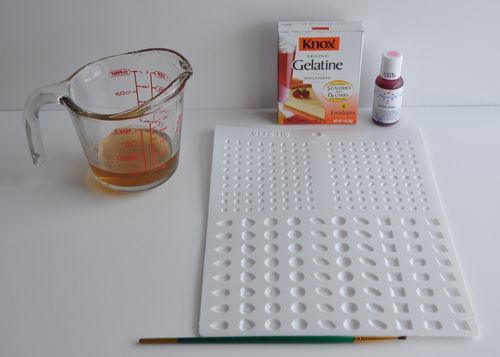 """How to make gelatin gems. """"It's fast, cheap and easy when you need a quick gem and don't feel like working with hot sugar."""""""