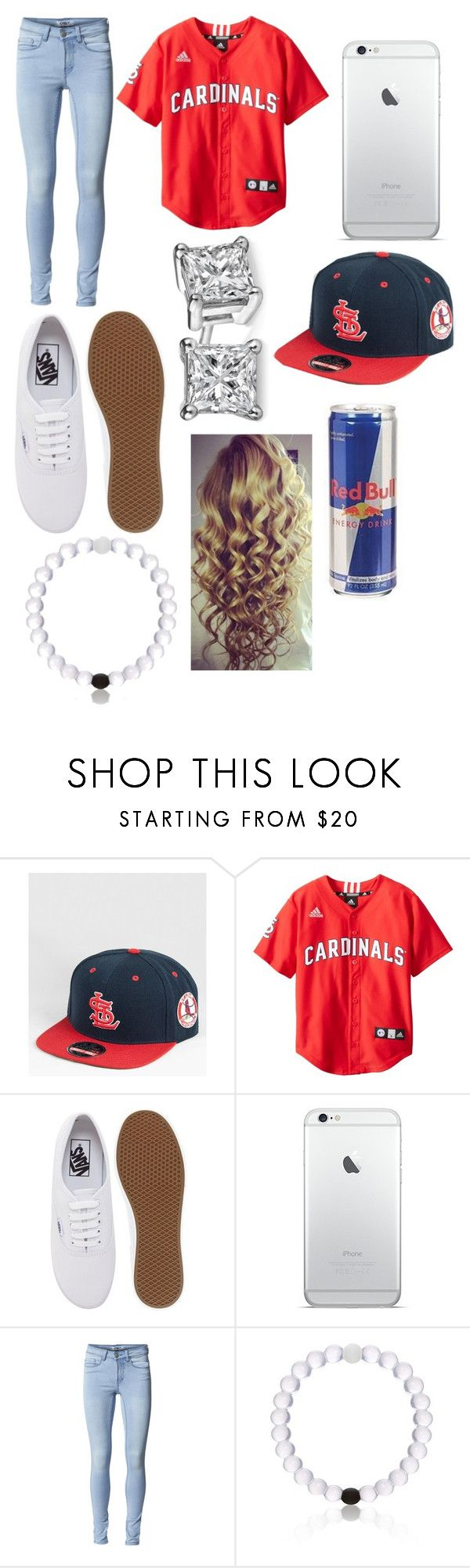 """""""St. Louis Cardinals game"""" by jenchristine07 ❤ liked on Polyvore featuring American Needle, Vans and ONLY"""
