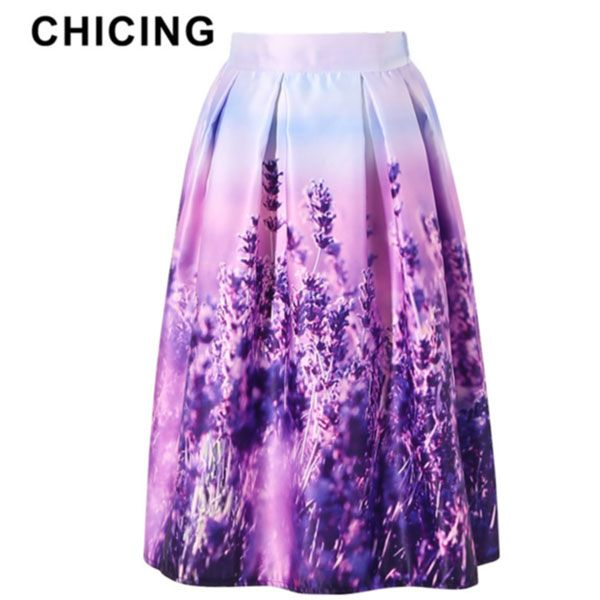 Lavender Printed Ball Gown Pleated Only $23.99 => Save up to 60% and Free Shipping => Order Now! #Skirt outfits #Skirt steak #Skirt pattern #Skirt diy #skater Skirt #midi Skirt #tulle Skirt #maxi Skirt #pencil Skirt
